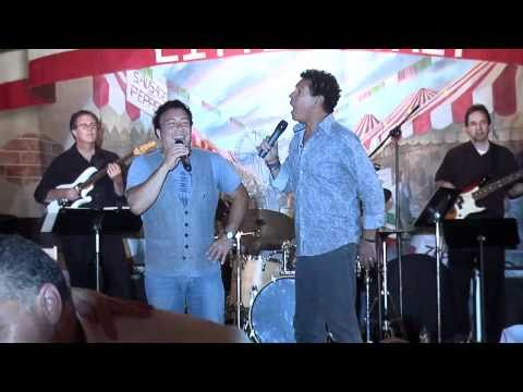 Clint Holmes and Frank Scinta at San Gennaro Feast in Las Vegas September 2010