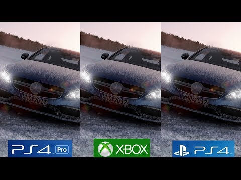 [4K/60FPS] PROJECT CARS 2 - PS4 Pro vs PS4 vs Xbox One Graphics Comparison