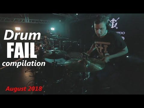 Drum FAIL compilation August 2018 | RockStar FAIL