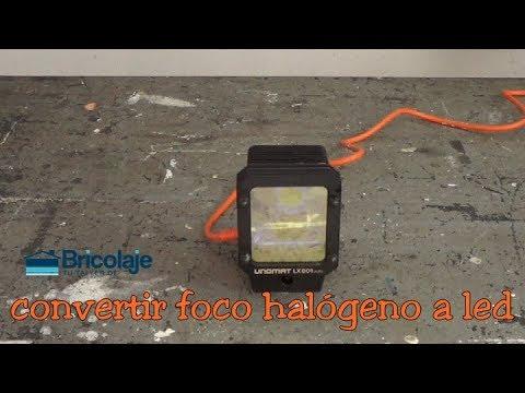 C mo convertir un foco hal geno a led youtube - Foco halogeno led ...