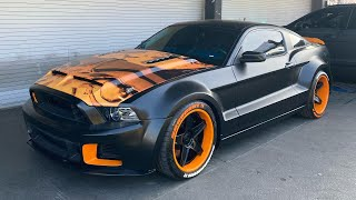 Chris Brown's Mustang Shelby GT500 Custom Wrap