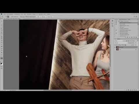 "3 Урок. ""Наращивание фона"" Photoshop CC (для новичков)"