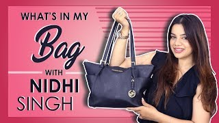 What's In My Bag With Nidhi Singh | Bag Secrets Revealed | Exclusive