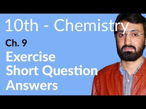 10th Class Chemistry, ch 9, Exercise Short Question Answer – Matric Part 2 Chemistry