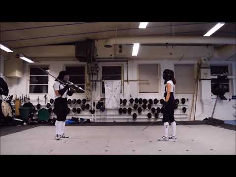 Kristine and Axel: light gear short blades longsword sparring
