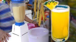 PINEAPPLE JUICE MAKING | HEALTHY STREET DRINKS IN INDIA