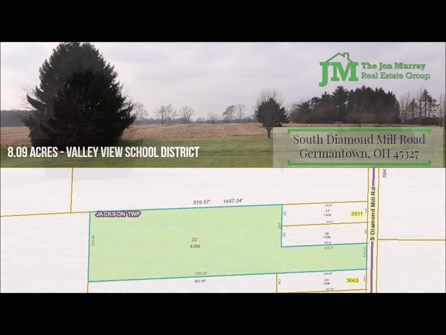 South Diamond Mill Road Germantown OH 45327 - Beautiful 8 Acres - Valley View Schools for Sale!