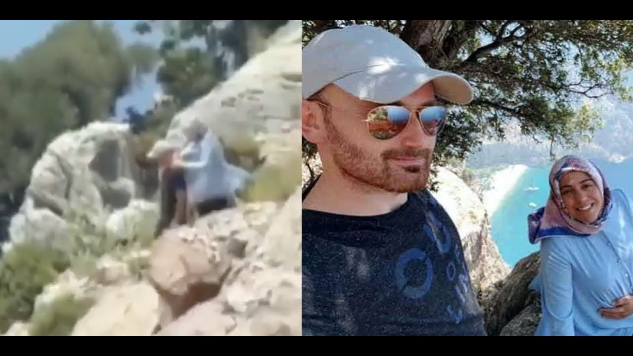 Tourist video captures moments before man allegedly pushed his pregnant wife off cliff