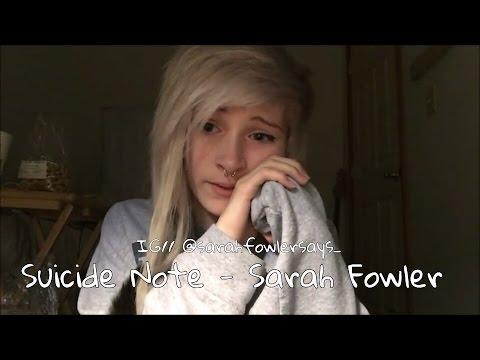 Suicide Note - Kyle Spratt - Sarah Fowler