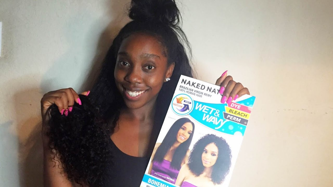 shake-n-go naked nature wet & wavy bohemian curl 7pcs | hair review