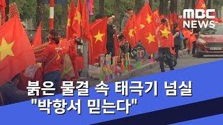 """붉은 물결 속 태극기 넘실 """"박항서 믿는다"""" (2018.12.15/뉴스데스크/MBC)"""