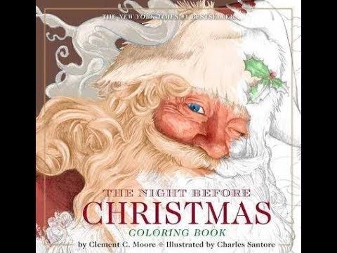 The Night Before Christmas Colouring Book - video flipthrough - YouTube