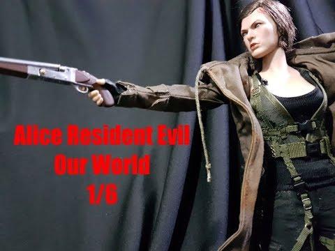 Boneca Alice Resident Evil Hunter Our World 16 Milla Jovovich