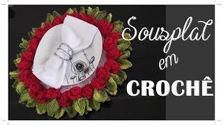 SOUSPLAT EM CROCHÊ COM FLORES BRINCO DE PRINCESA