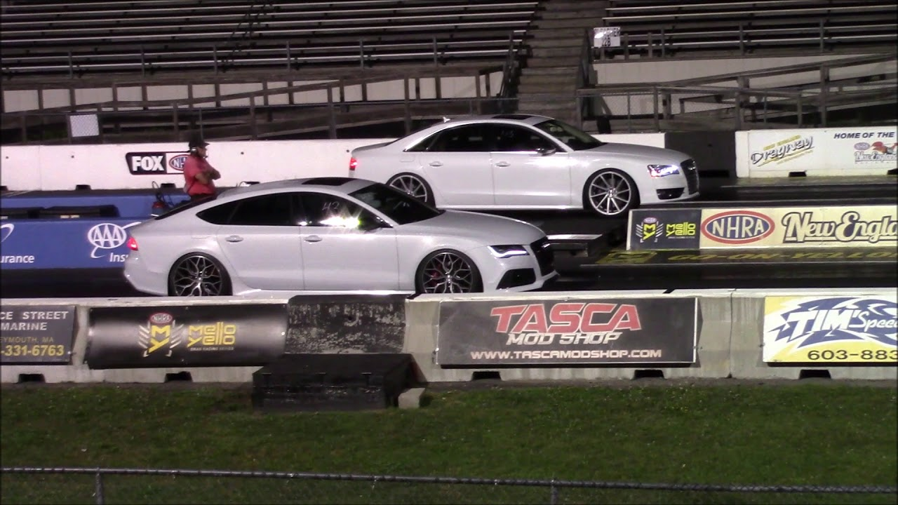 Audi RS7 vs S8 1/4 Mile Drag Races - YouTube