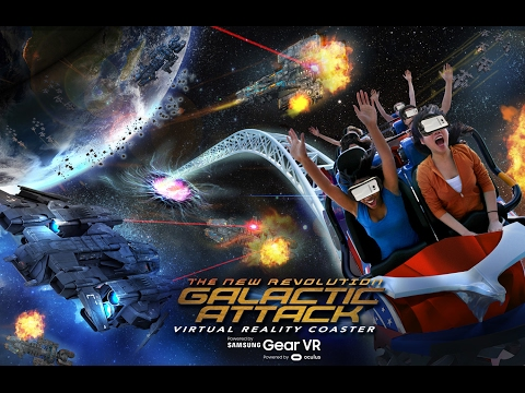 The New Revolution Galactic Attack: World's First  Mixed Reality Experience on a VR Roller Coaster