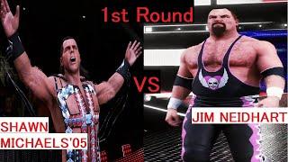 WWE 2K20 - SHAWN MICHAELS'05 vs JIM NEIDHART 全スーパースターCPUトーナメント(ALL Superstars CPU Tournament)#38
