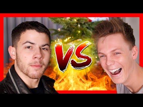 BAD CHRISTMAS JOKES  Nick Jonas vs Caspar Lee