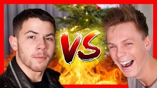 BAD CHRISTMAS JOKES - Nick Jonas vs Caspar Lee