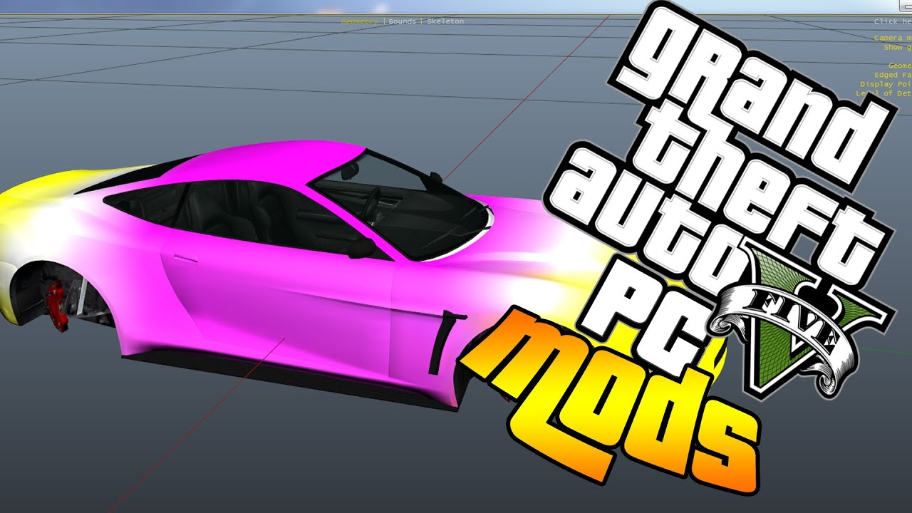 Gta 5 PC MODS - NEW OPEN IV UPDATE, HOW TO EDIT TEXTURES, VIEW MODEL FILES,  AMAZING NEW FEATURES
