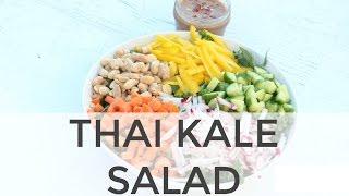 Veggie Packed Thai Kale Salad  Clean & Delicious