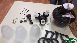 видео Подключение люстры вентилятора