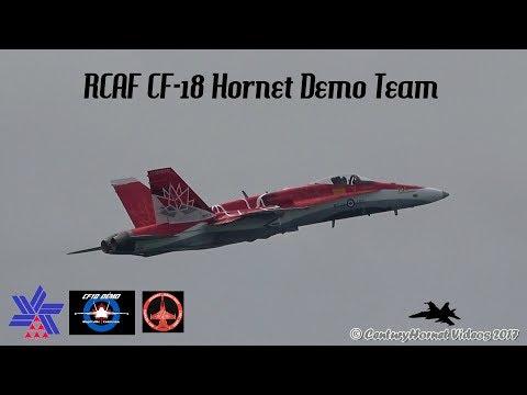 Canadian International Air Show 2017- RCAF CF-18 Hornet Demo Team