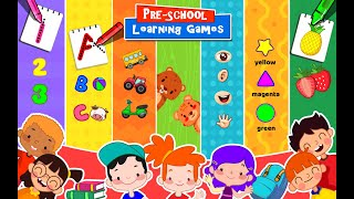 Kids Preschool Learning Games - 80 Toddler Games - All In One Android App For Kids