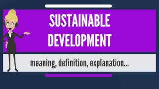 What is SUSTAINABLE DEVELOPMENT? What does SUSTAINABLE DEVELOPMENT mean?
