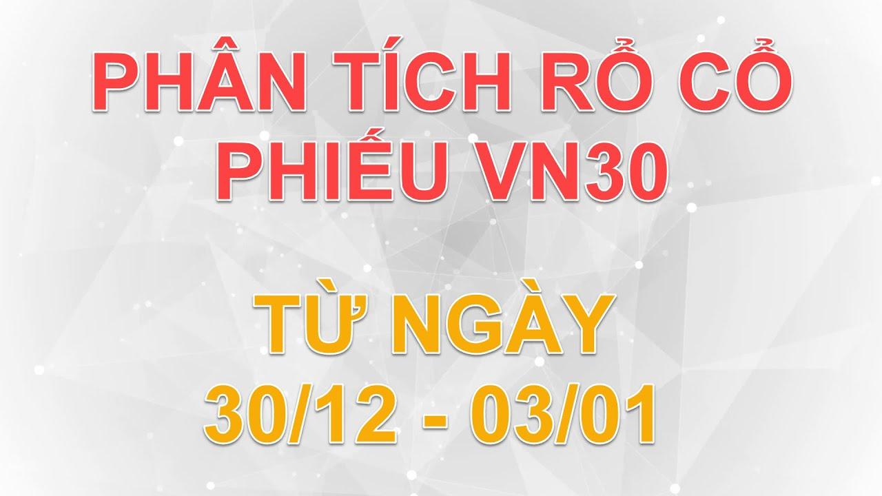 Phân tích rổ cổ phiếu VN30 từ ngày 30/12 – 03/01 | Lương Tuấn