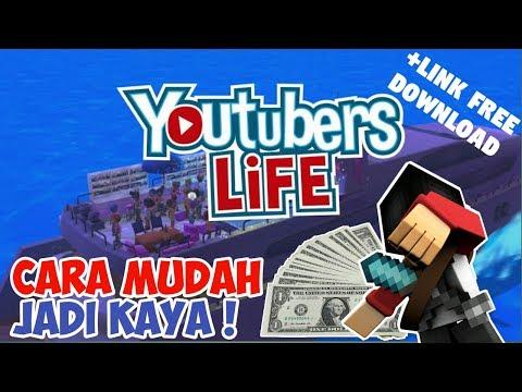 TRIK MENDAPAT BANYAK UANG DI YOUTUBER LIFE ANDROID ! (+link Free Download)