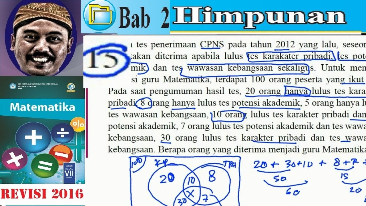 Himpunan matematika kelas 7 bse kurikulum 2013 revisi 2016 lat 2 himpunan matematika kelas 7 bse kurikulum 2013 revisi 2016 lat 210 no15 diagram venn soal cer ccuart Gallery
