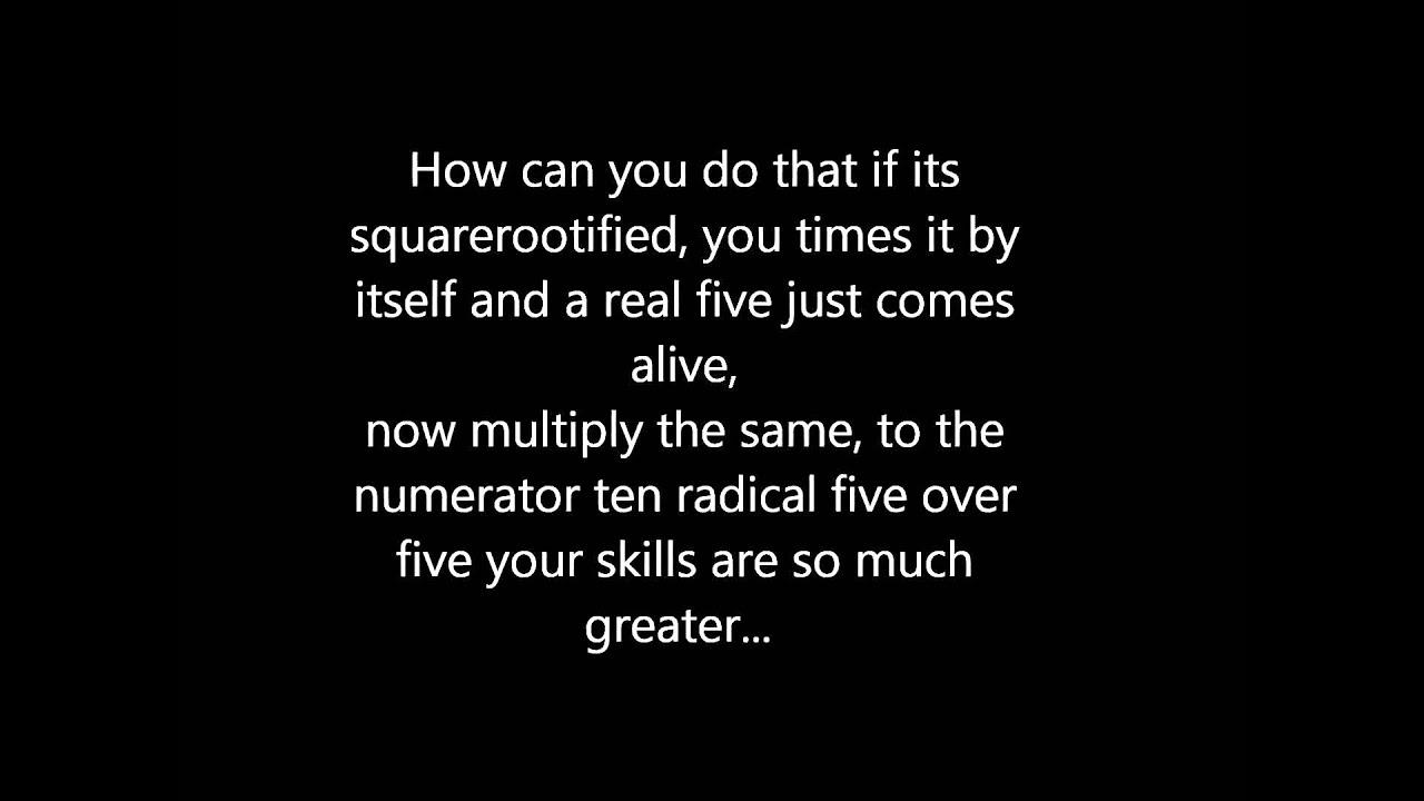 Simplifying Radicals Music Video