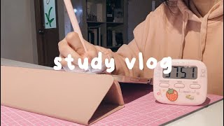 waking up at 5 am for study, exam prep 📚 | med student study vlog