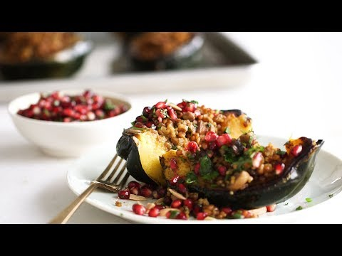 Acorn Squash with Mixed Grain Stuffing- Healthy Appetite with Shira Bocar