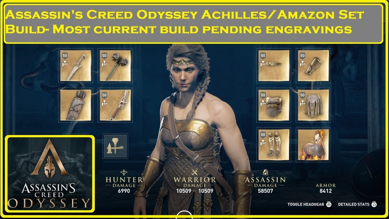 Assassin S Creed Odyssey Achilles Amazon Build Youtube