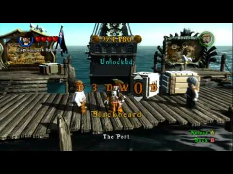 Lego pirates of the Caribbean cheats part one xbox 360