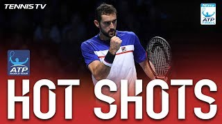 Hot Shot: Cilic Shows Quick Hands at Net Nitto ATP Finals 2017