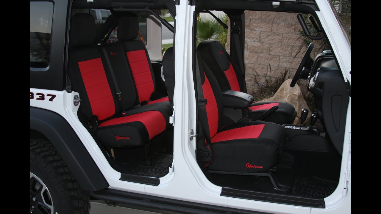 Trek Armor Seat Cover Installs On 2013 Jeep Wrangler Rubicon