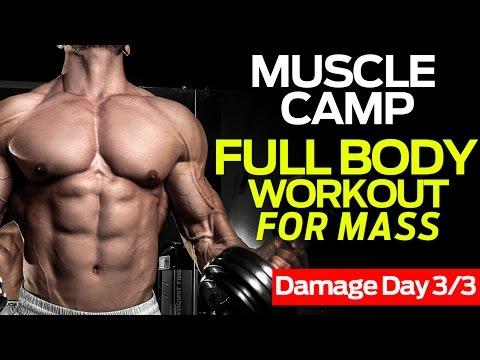 Brutal Full Body Workout For Men & Mass (DAMAGE DAY)