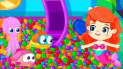 Cartoon auf Deutsch. Die kleine Meerjungfrau. Wir lernen Farben.