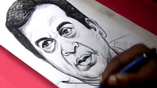 How to Draw Comedian BRAHMANANDAM Drawing For Kids