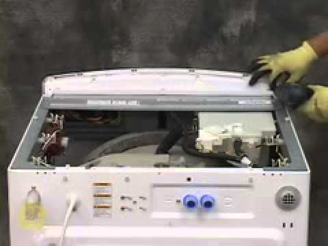 GE Front Load Washer Control Panel Access - YouTube