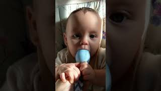 Babies Reacting to The Teething Egg   Rattle Inside