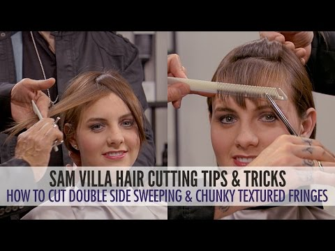 Double Identity Side Sweeping Fringe and Chunky Textured Fringe | 2 Ways To Cut Bangs