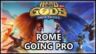 Hand Of The Gods Smite Tactics Beta Gameplay - Going Pro With Rome - Smite Tactics Rome Gameplay