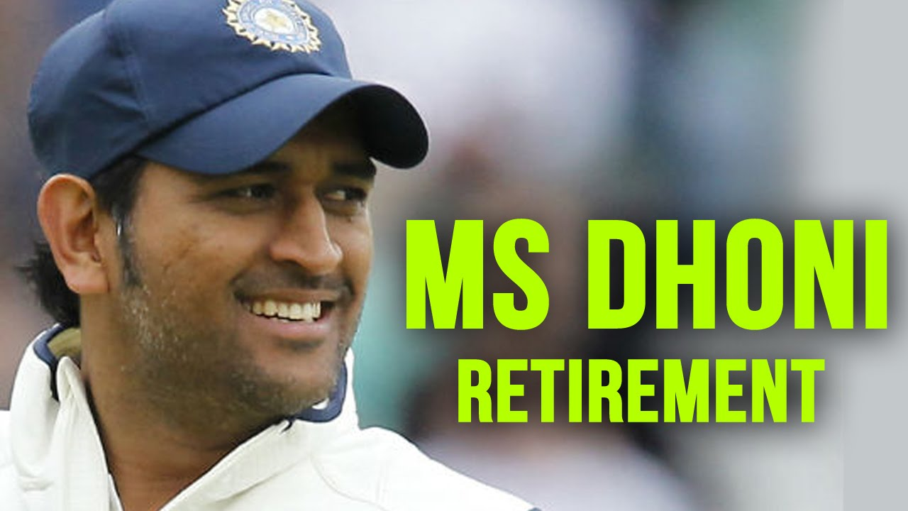 Ms Dhoni Retirement From International Test Cricket Mahendra Singh Dhoni India Captain Youtube