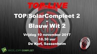 TOP/SolarCompleet 2 tegen Blauw Wit 2, vrijdag 10 november 2017