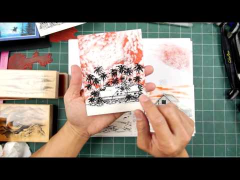 Stampscapes 101: Video 160.  Simple Compositional Foundations