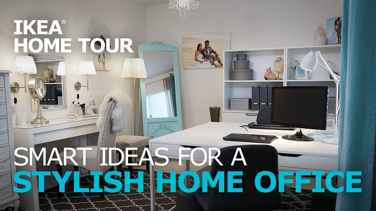 Ikea Small Living Room How To Organize Your Home Office Ideas - Tour Youtube